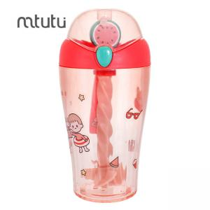 China Red 15.5oz Stirring Water Bottle Customized Logo factory