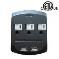 China US 3 outlet wall-mounted usb charging surge protector, ETL approved factory