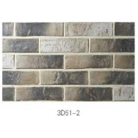 3D51-2 Clay Thin Veneer Brick Low Water Absorption For Interior /Outdoor Brick Veneer