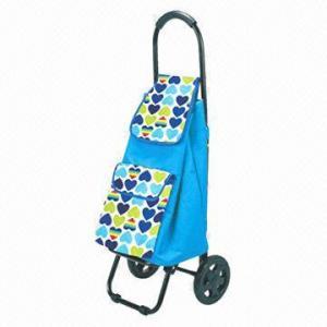 China New Design Foldable Handle Shopping Cart, Round Shape factory