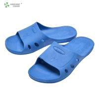 China Cleanroom Unisex Anti Static Sandals , Clean Room Slippers With SPU Sole factory