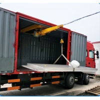 China 2.2kw Micro Cantilever Crane Use In Cargo Truck factory