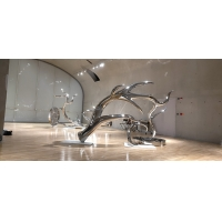 Buy cheap Exhibition mirror polish stainless steel art sculptures ,customized studio art from wholesalers