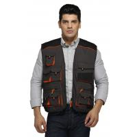 China Classic Warm Work Vest Canvas Fishing Vest With Oxford Reinforcement on sale