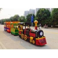 China Colorful Painting Shopping Mall Train , FRP Material Trackless Train Ride factory