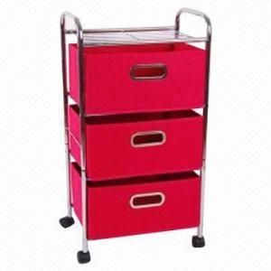 China 3-drawer storage rack, measures 41x30x90cm factory