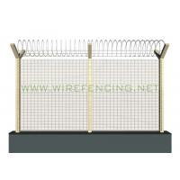 Buy cheap ISO High Security Anti Climbing Fence 358 Security Fence 72.6*12.7mm Green from Wholesalers
