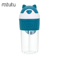 China Safe Material 400ml Kids Reusable Water Bottle With Straw factory