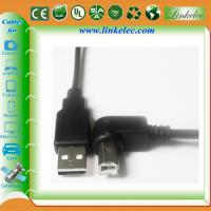 China 6FT ANGLE USB BM TO USB AM printer cable on sale