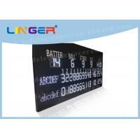 China Multi Purpose LED Baseball Scoreboard Remote Control With Time Function factory