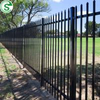 China 2 rail smooth top aluminum fence panel on sale