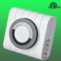 Buy cheap American 24hours Mechanical Timer with one 2 prong outlet, ETL approved from wholesalers