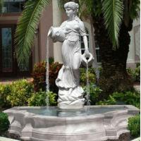 China Stone carving statue fountain white marble sculpture water fountains ,stone carving supplier factory