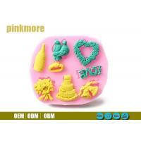 Buy cheap Bird Ring Heart Shaped Silicone Cake Moulds , Fondant Molds For Wedding Cakes from Wholesalers