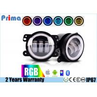 """Buy cheap 4"""" Jeep Fog Lights  DRL RGB Halo Ring Fog lights  Assembly with Bluetooth Function for 1997-2017 Jeep Wrangler JK CJ LJ from Wholesalers"""