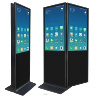 """China 55""""interactive touch kiosk double-face standing advertising equipment stand up kiosk factory"""