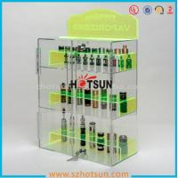 China clear acrylic e-cigarette display stand /e-liquid display case / e liquid bottle display factory