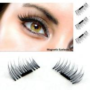 China 3D Magnetic False Eyelashes Natural Eye Lashes Extension Handmade 4 Pcs/1 pair on sale