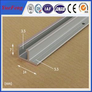 Buy cheap Poster rail aluminium, very cheap aluminium profile anodized aluminium rails extrusion from Wholesalers