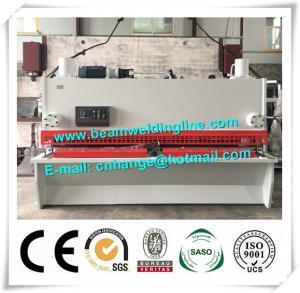China NC Hydraulic Shearing Machine , Guillotine Type Steel Plate Shearing Machine factory