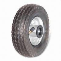 China Air Pneumatic Wheel with Plain Tread Rolls Smoothly, Measures 5 x 1.5 Inches factory