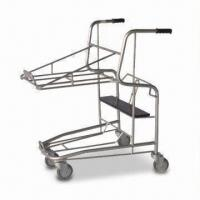 China Shopping Cart with More Function, 80kg Loading Capacity and 4-inch Solid Wheel factory