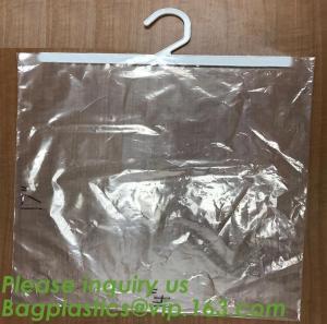 China self adhesive zipper hanger hook plastic bags for garment,Type hanger hook plastic bag,zipper bag manufacturers,Hook Zip factory