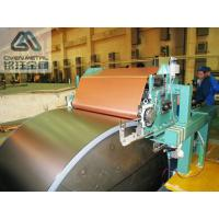 China Single Shiny  S - HTE   Red Copper Electrolytic Copper Foil For PCB ,Roll Size factory
