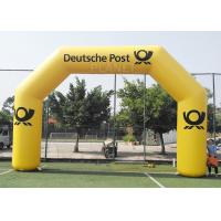 China 8.4m Commercial Full Printed PVC tarpaulin yellow color advertising inflatable archway for brand promotion factory