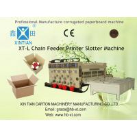 Buy cheap Rotary Semi Automatic Carton Printer Slotter Machine With Elastic Pressing Plate from Wholesalers