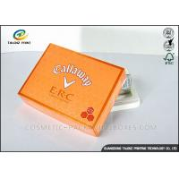 Buy cheap Foldable Orange Cardboard Gift Boxes For Clothes / Candy / Chocolate from Wholesalers
