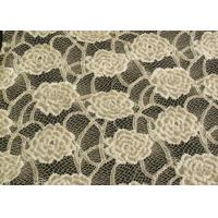 Buy cheap Eco-Friendly Brushed Lace Fabric Yellow , Garment Trimming Anti-Static Material CY-LQ0039 from Wholesalers