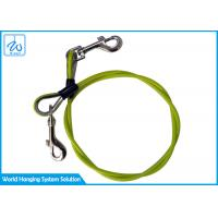 China Color Plastic Coated Pet Tie Out Cable Steel Wire Rope Dog Chain With Carabiner factory