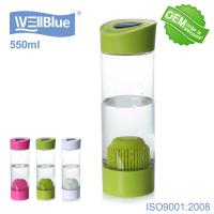 Buy cheap OEM PET Portable Alkaline Water Bottle Infuser Food Grade Material WellBlue from wholesalers