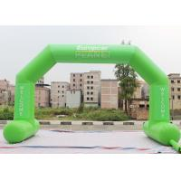 China Green Custom Inflatable Arch Stitch Fasten Tape UV / Digital Printing factory