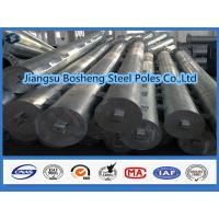 Buy cheap Galvanized square tubing Overhead Line Electrical Power Pole custmised Color from wholesalers