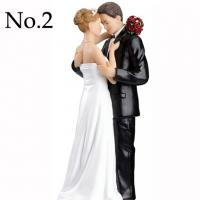 Buy cheap clearance Resin fondant cake decoration cream cake top item Figurine couple wedding romantic bride groom cake topper from Wholesalers