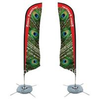 Buy cheap Durable Double Sides Advertisement Beach Flag Banner Dye Sublimation Printing from Wholesalers