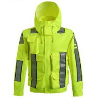 Buy cheap Waterproof Outdoor Safety Work Clothes Reflective Raincoat for high speed road from wholesalers