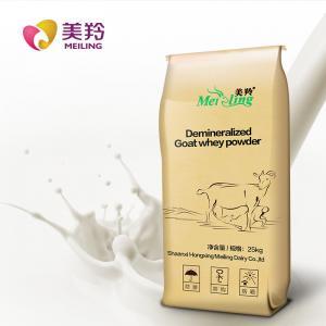 China D90 Grade 25kg Edible Grafde desalted Goat Milk Whey Powder factory
