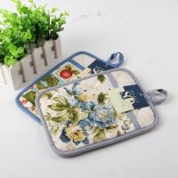 Buy cheap Terry Cloth Cotton Kitchen Dual Useage Pot Holder / Kitchen Oven Mitts with Flower Printed from Wholesalers