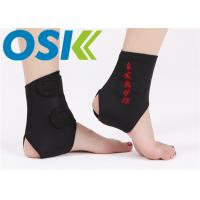 China Adjustable Self Heating Tourmaline Elastic Ankle Support With Compression Strap factory
