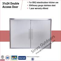 Buy cheap Stainless Steel BBQ Cabinet Access Doors 31 Inch Double Doors from Wholesalers