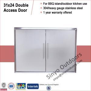 Quality Stainless steel grill island door, storage cabinet door, built-in for sale