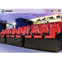 China Entertainment Park 12D Cinema XD Theatre With 3 DOF Electric Chairs 180KG factory