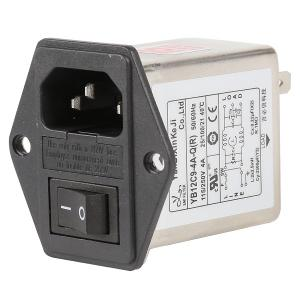 China 10A 6A 3A Plug In RFI Filter Low Pass IEC Socket Inlet Three In One factory