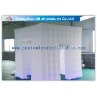 China White Big 2.4 X 2.4m Inflatable Led Photo Booth For Parties Or Wedding factory