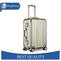 China Gold Full Aluminum Cabin Luggage Carrier With Universal Wheels Less Jointed Gap factory