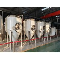 China 1000L Stainless Steel 304 Beer Fermentation Equipment Turnkey Project For Brewery System Conical Fermentation Tank factory