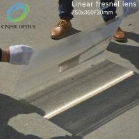 Buy cheap High quality flat design big size customized linear fresnel lens for solar concentrator 750X360 F300mm from Wholesalers